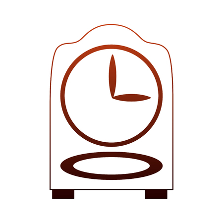 Wooden clock isolated vector illustration graphic design Illustration