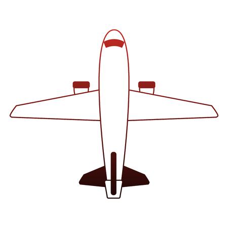 Jet airplane symbol vector illustration graphic design