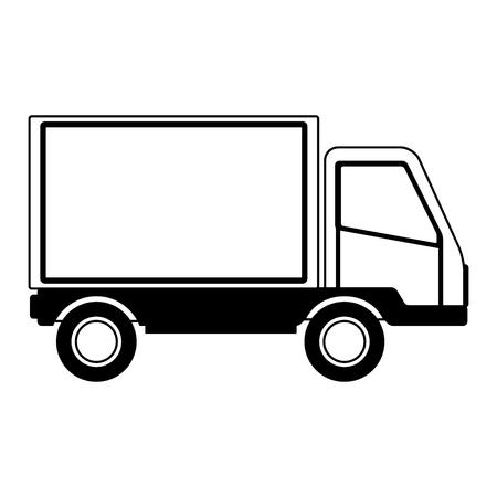 Cargo delivery truck vector illustration graphic design Vettoriali