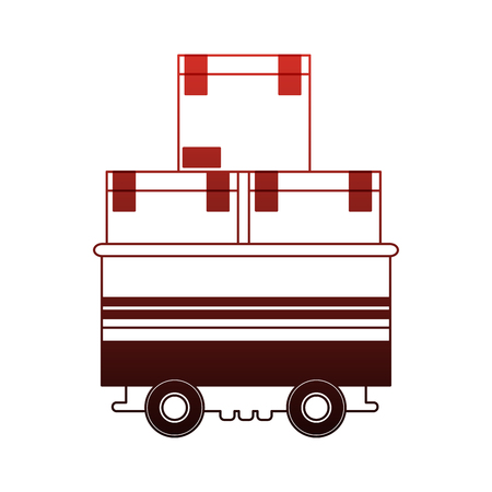Boxes on cart vector illustration graphic design Stock Illustratie