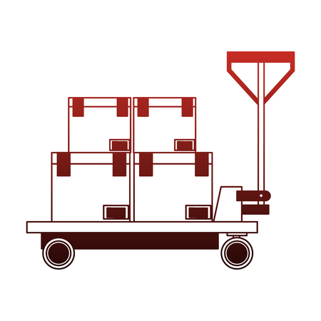 Boxes on cart vector illustration graphic design Stock Illustratie