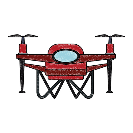 Aerial drone technology vector illustration graphic design