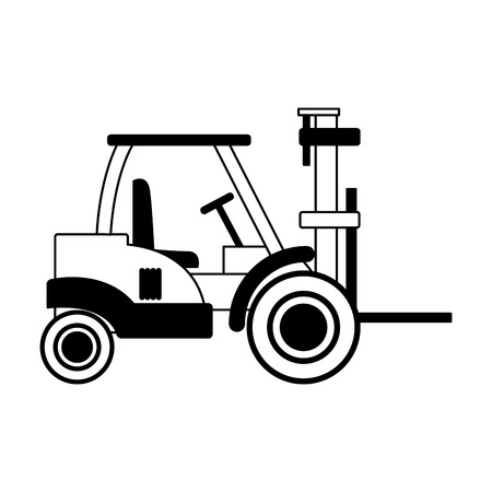Forklift logistics delivery vector illustration graphic design