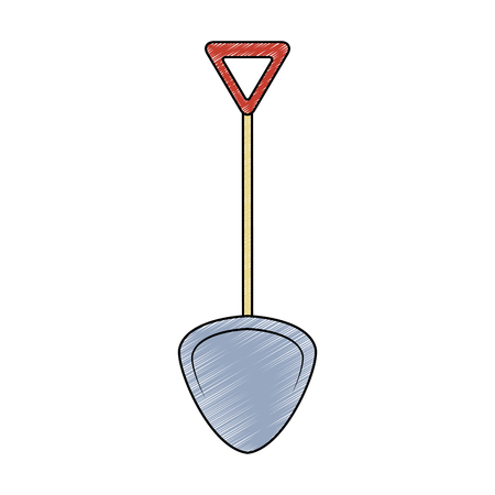 Shovel tool isolated vector illustration graphic design