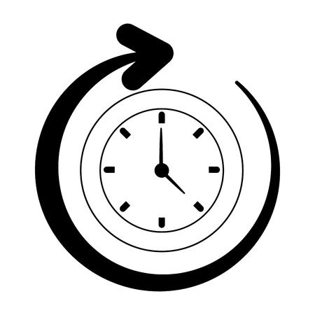 Wall clock running vector illustration graphic design Иллюстрация