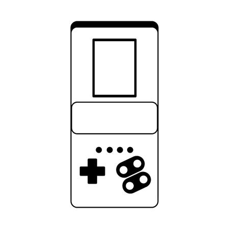 Portable videogame console technology vector illustration graphic design
