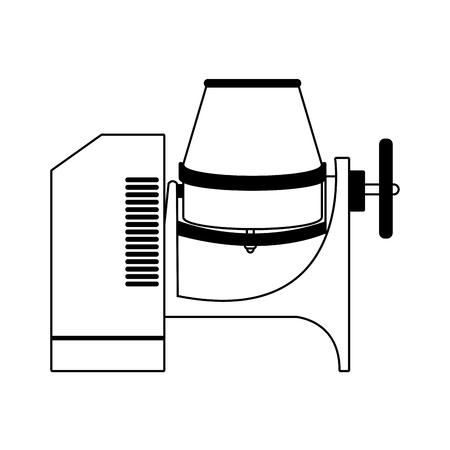 Concrete mixer equipment vector illustration graphic design