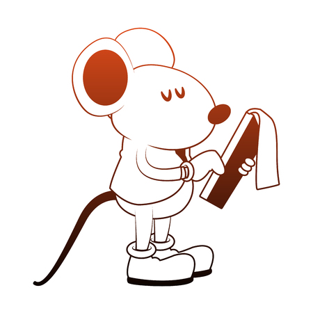 Worker mouse with clipboard vector illustration graphic design Illustration