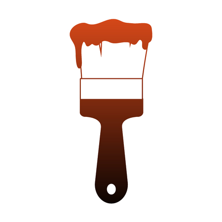 Paint brush construction vector illustration graphic design Ilustrace