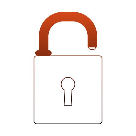 Security padlock symbol vector illustration graphic design Illustration