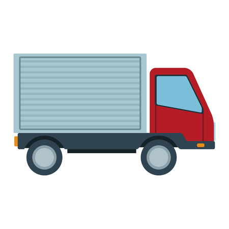 Cargo delivery truck vector illustration graphic design 向量圖像