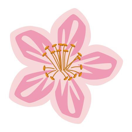 Beautiful flower symbol vector illustration graphic design Illustration