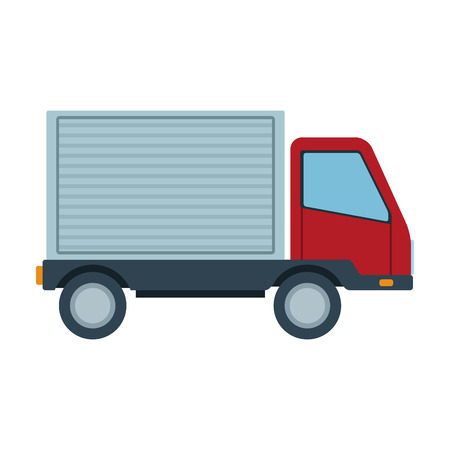 Cargo delivery truck vector illustration graphic design Stock Illustratie