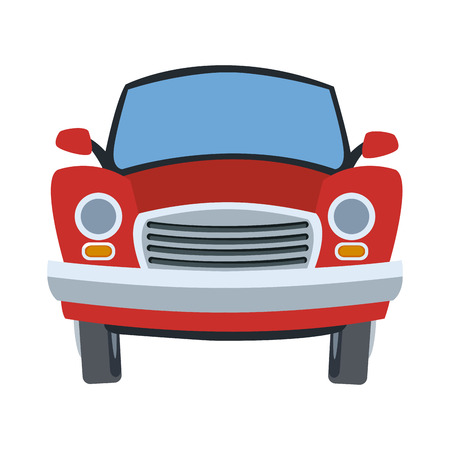 Old car frontview vector illustration graphic design