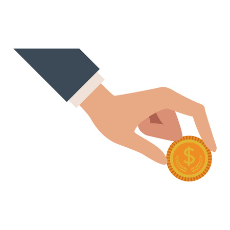 Hand with money vector illustration graphic design Çizim