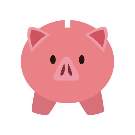 Piggy money savings vector illustration graphic design.