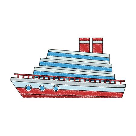 Cruiser ship cartoon vector illustration graphic design