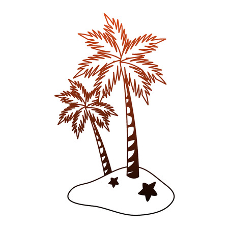 Palms tree isolated vector illustration graphic design