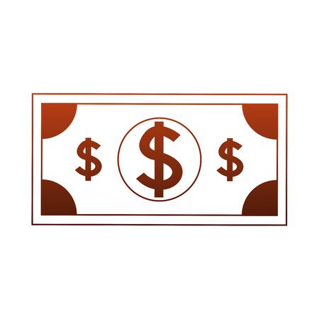 Billet money symbol vector illustration graphic design