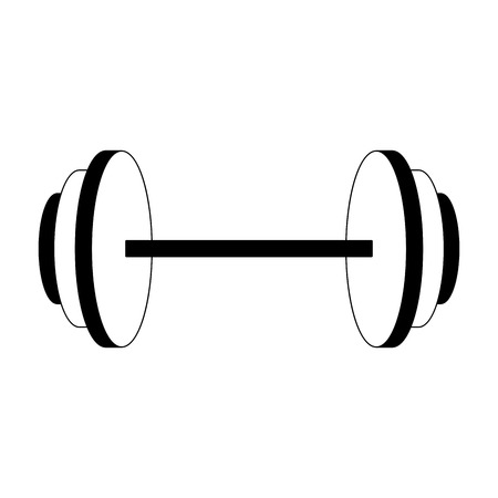 Dumbbell weight symbol vector illustration graphic design