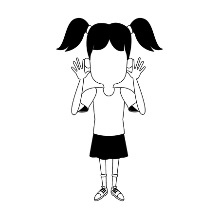 Girl sticking out his tongue vector illustration graphic design