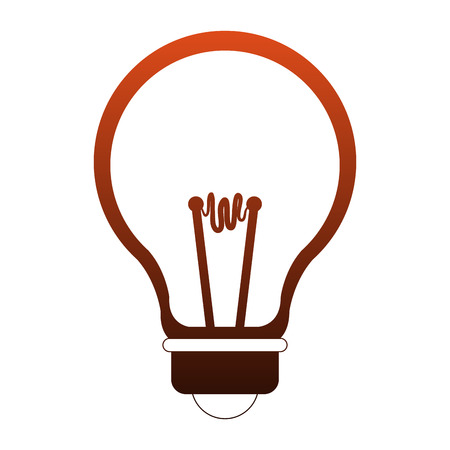 Light bulb symbol vector illustration graphic design Illustration