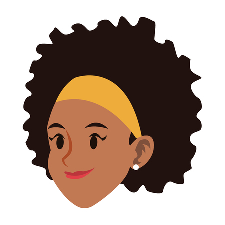 Young woman face vector illustration graphic design