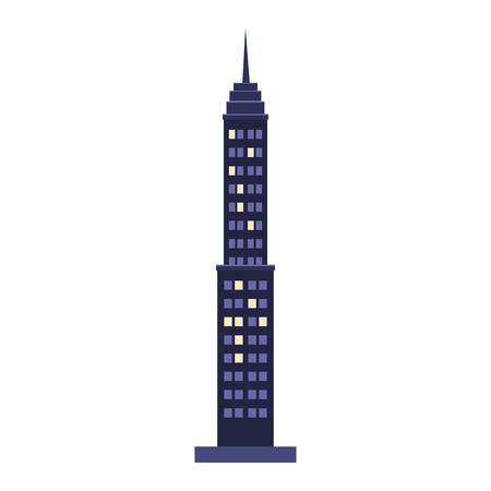 Skyscraper building isolated vector illustration graphic design