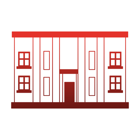 Urban building isolated vector illustration graphic design