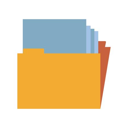 Map met grafisch ontwerp van de documenten het vectorillustratie
