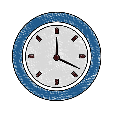 Wall clock symbol vector illustration graphic design 矢量图像