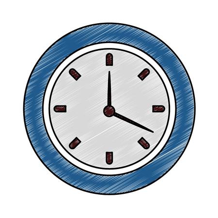 Wall clock symbol vector illustration graphic design Ilustrace