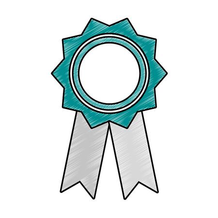 Award medal symbol vector illustration graphic design Illustration