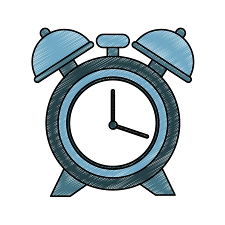 Alarm clock isolated vector illustration graphic design Illustration