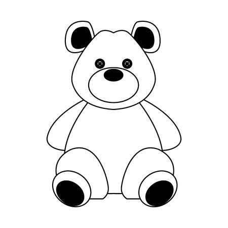 Teddy bear isolated vector illustration graphic design Stock Illustratie