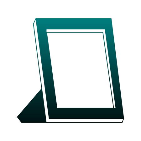 Empty portrait frame vector illustration graphic design