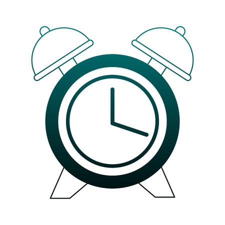 Alarm clock isolated vector illustration graphic design Illustration