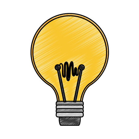 Light bulb symbol vector illustration graphic design 矢量图像