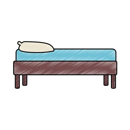 Bed furniture isolated vector illustration graphic design
