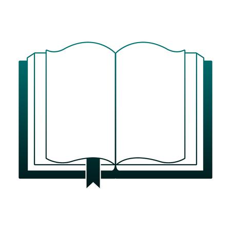 Book open symbol vector illustration graphic design