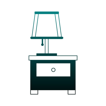 Drawer with lamp vector illustration graphic design 일러스트