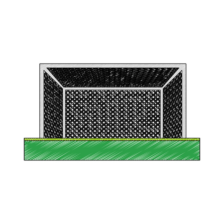 Soccer goal isolated vector illustration graphic design