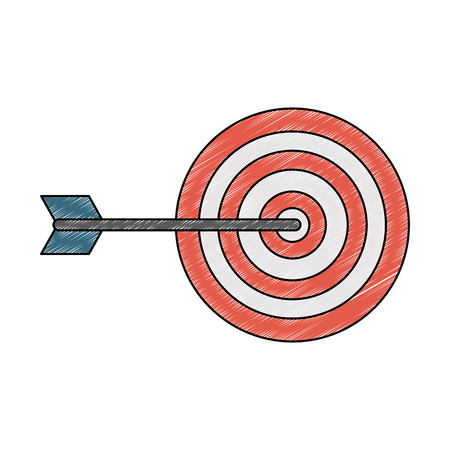 Target dartboard symbol vector illustration graphic design 矢量图像