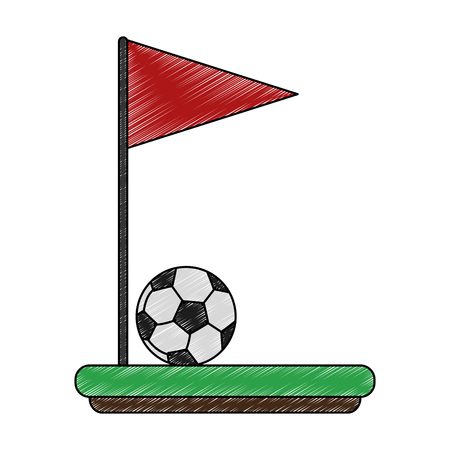 Soccer corner flag vector illustration graphic design