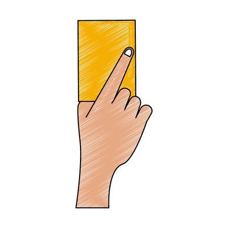 Soccer yellow card vector illustration graphic design Ilustração