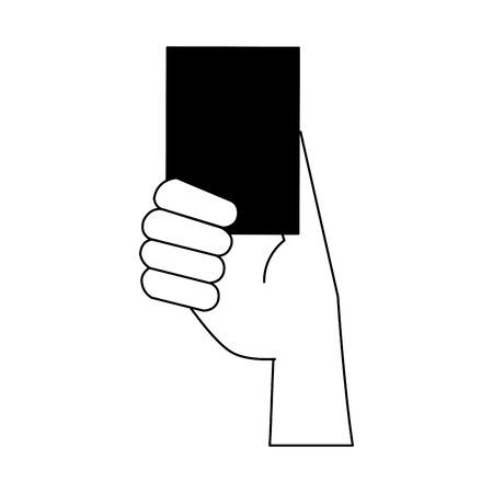 Soccer red card vector illustration graphic design