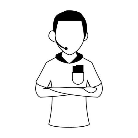 Soccer referee cartoon vector illustration graphic design