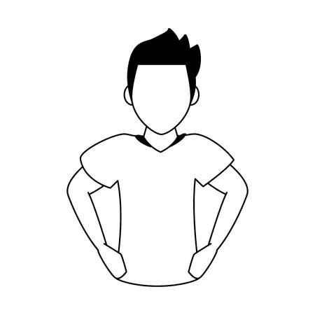 Soccer player cartoon vector illustration graphic design
