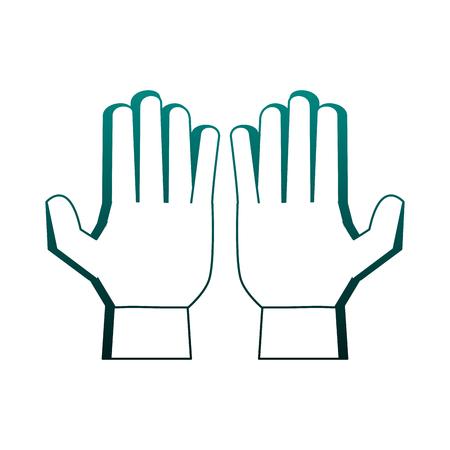 Soccer goalkeeper gloves vector illustration graphic design Illustration