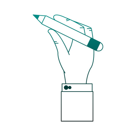 Hand using pencil vector illustration graphic design